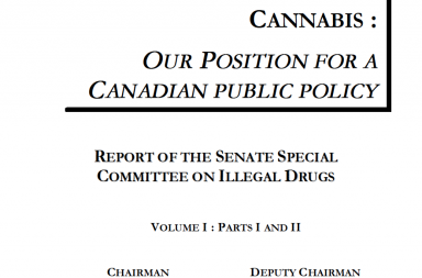 Cannabis: our position on canadian drug policy