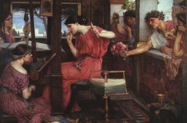 Di John William Waterhouse - http://www.johnwilliamwaterhouse.com/pictures/penelope-suitors-1912/, Pubblico dominio, https://commons.wikimedia.org/w/index.php?curid=770222