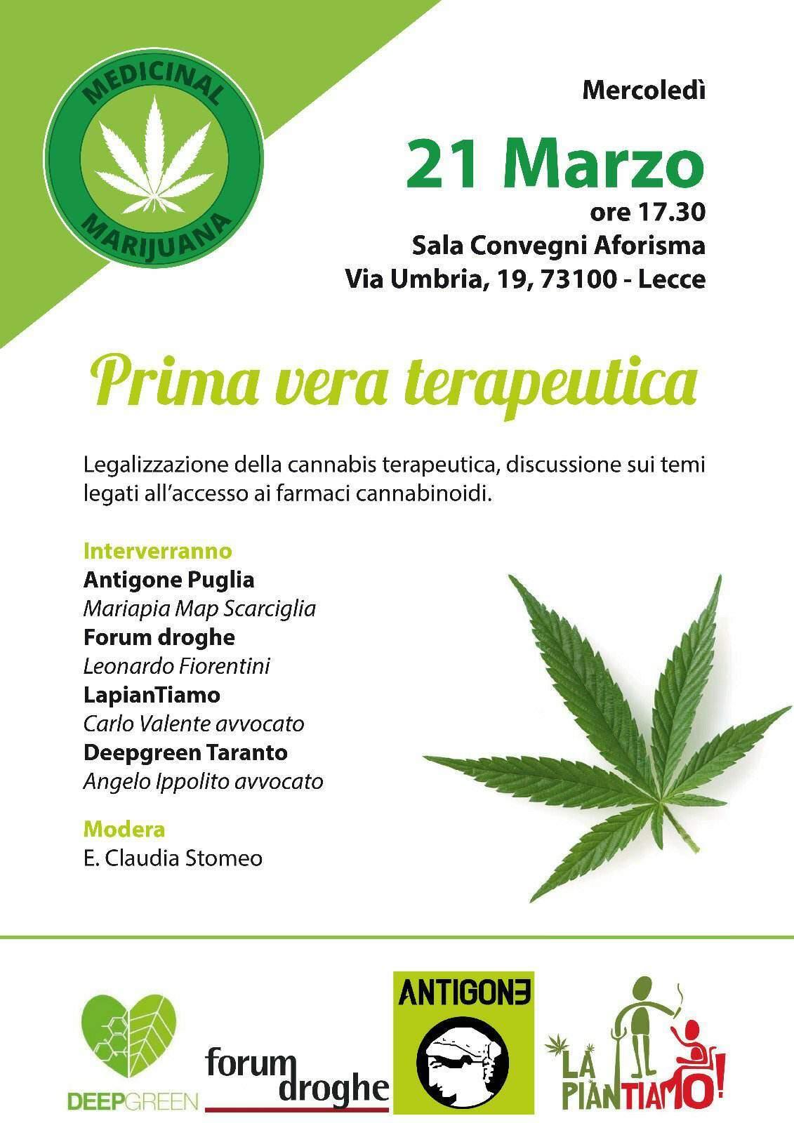 Cannabis terapeutica La piantiamo Lecce