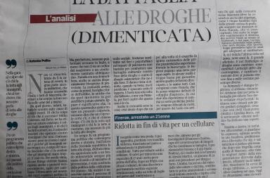Antonio Polito su Pamela e le droghe dal Corriere della Sera