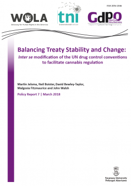 Balancing Treaty Stability and Change: Inter se modification of the UN drug control conventions to facilitate cannabis regulation