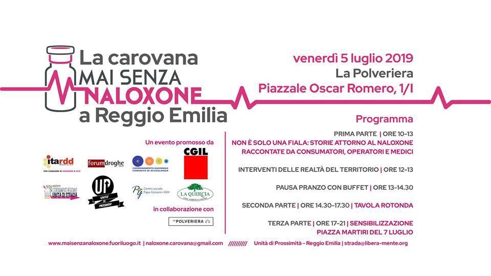 Mai senza Naloxone a Reggio Emilia