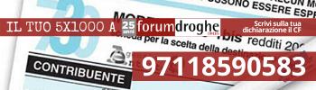 5 per mille forum droghe