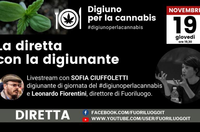 #digiunoperlacannabis diretta con Sofia Ciuffoletti